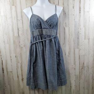 Ann Taylor Loft Womens Wrap Dress S Blue Chambray